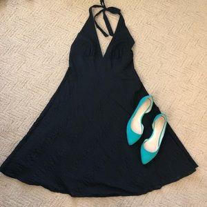 J Crew Halter Black Dress SZ 10
